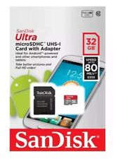 Sandisk Ultra 32gb Micro SD Memory Card SDHC With Adapter UHS-1 80mb/s
