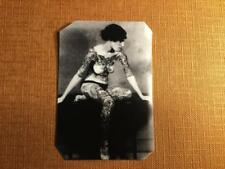 Vintage Tattoo lady 1900s Historical tintype C1289RP