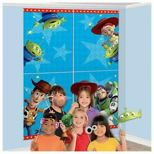 Toy Story 4 Birthday Party Scene Setter Wall Decoration Kit Backdrop With Props