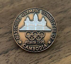 Cambodia Atlanta 1996 National Olympic Committee NOC Pin