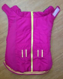 """Top Paw Fuscia Pink Puffy Vest Dog Reflective - Size Large up to 28"""" Girth"""