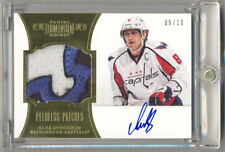 2012-13 Dominion Peerless Patches ALEX OVECHKIN Game Used Logo Patch Auto 6/10