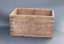 Vintage Black & and White Blended Scotch Whiskey Wooden Crate Box
