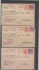 Correspondance 7 X CARTE POSTALE 1921 Deutsches Reich firmenpost Neufang Pierre Prairies