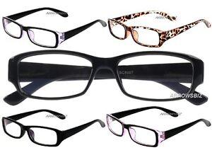 Computer TV Eyecare Anti-Reflection Light Weight Reading Glasses +0.00 UK Seller