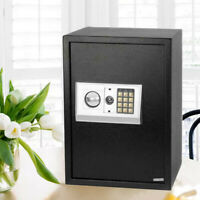 Black Large Digital Electronic Safe Box Keypad Lock Security Home Office Hotel
