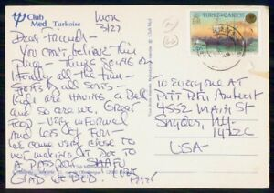 Mayfairstamps TURKS & CAICOS COMMERCIAL 1969 POSTCARD TO SNYDER NY USA wwk42917