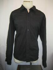 Mens Adolfo Sport Black LS Cotton Blend Casual Shirt sz 2XL
