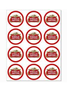 12 Stella Artois Party Stickers