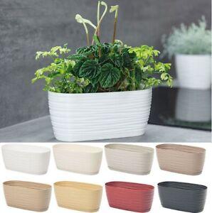 Trough Plant Pot Long Plastic Box Planter Succulent Garden Window Herb Flower