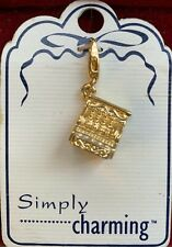 Vintage Gold Plated Cash Register Charm with Rhinestones by Simply Charming New!