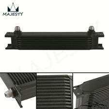 "7 Row 8AN Universal Engine Transmission Oil Cooler 3/4""UNF16 AN-8 Black"