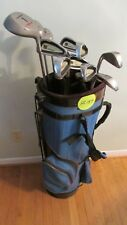 (HS153) MRH Golf Club Set. 8 Smokey irons 3 Wilson woods putter bag $80.00