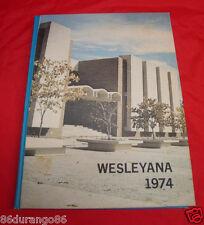 ILLINOIS WESLEYAN UNIVERSITY 1974 YEARBOOK BLOOMINGTON ILLINOIS