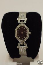 Nice BLING BLING Ladies Avon Elizabeth Taylor P1 Silver Belt Buckle Band Watch
