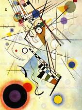 A4 Many-Coloured Ensemble 1932 Kandinsky Poster Canvas Picture Art Print A0