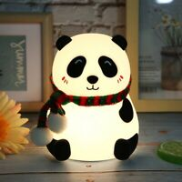 USB Rechargeable Panda Lamp Night Light Children Room LED 7 Color Change Decor