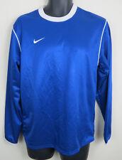 Azul Camisa De Fútbol Nike Fútbol Jersey Retro 90s Logo niños jóvenes XL 14-15 años
