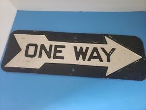 Vintage NYC Heavy Metal ONE WAY ARROW SIGN NOT Reproduction