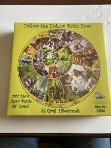 New Sealed Follow The Yellow Brick Road Wizard Of Oz Hildebrant 1000 Pc. Puzzle
