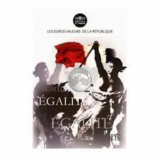 Les Valeurs de la République, Cartelette Egalité - Monnaie 5 euros, Argent.