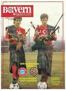 BAYERN MUNICH v HEARTS 88-89 UEFA CUP Magazine issue