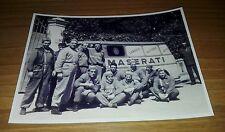 Antica Fotografia Operai Fabbrica Stabilimento Auto Maserati Modena Italy Guarda