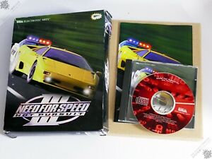 PC IBM NEED FOR SPEED III 3 HOT PURSUIT BIG BOX WIN 95 VINTAGE COMPUTER GAME EA