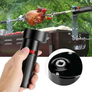 Electric BBQ Rotisserie Grill Roast Barbecue Rod Spit Universal Motor Skewer Kit