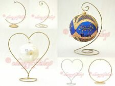 EASTER EGG holder CHRISTMAS BAUBLE METAL STAND BAUBLES HANGER ORNAMENTS DISPLAY