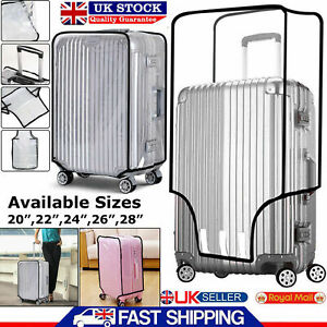 SUITCASE TRANSPARENT COVER TRAVEL PVC LUGGAGE PROTECTOR BAG 20''22''24''26''28''