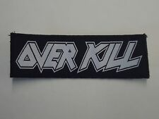 OVERKILL THRASH METAL WOVEN PATCH