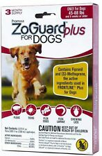 ZoGuard Plus Flea and Tick Drops for Large Dog, 3 Months, 45-88 lbs