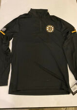 Adidas Sz S Small Nhl Boston Bruins 1/4 Zip Long sleeve training jacket Men's