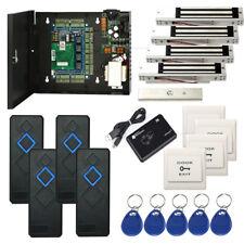 4 Doors Swipe Card Door Access Control Systems Kit & Magnetic Lock +RFID Reader