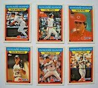 1988 Topps Kmart Memorable Moments Baseball Card Set (33 Cards)