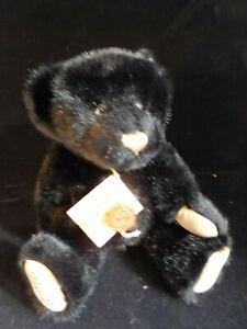 "Vintage 11"" Original Hermann Teddy Black Leopard Limited Bear ALL ID"