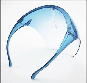 Face Shield Face Mask Transparent Reusable Glasses Visor Anti-Fog US Blue Tint
