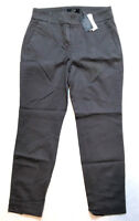 J. Crew Women's Cropped Pant in Stretch Chino, Gray, Size 4 MSRP $65.00