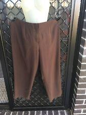 Millers Women's Pants - Brown, Straight Leg, Zip & Button Up, Elastic Waist - 22