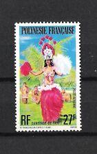 POLYNESIE FRANCAISE (1977) (**MNH) - COSTUMES DANSES FOLKLORE