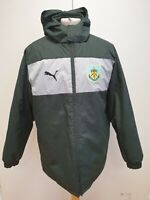 P652 MENS PUMA BLACK GREY PADDED BURNLEY F.C HOODED JACKET UK M EU 50