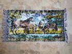 Velour Horse Rug Runner Vintage Tapestry