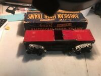 Vintage American Flyer Red 633 Baltimore & Ohio Box Car With Box