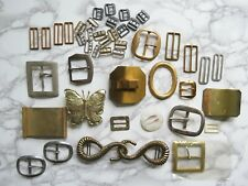 Vintage Belt Buckle Lot Assorted Brass Silver Decorative Some NOS Women's Men's