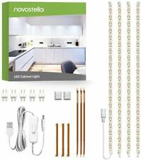 Novostella LED Strip Light Bar Under Cabinet Lighting Kit Shelf 6000K Cold White
