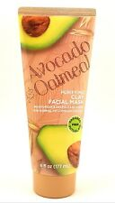 Purifying Clay Facial Mask Avocado And Oatmeal Moisturizes & Deep Cleans, 6 OZ