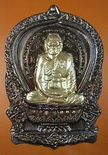 A COIN IS LP JARAN, SIT PAN, WAT AM-PAWAN, SINGBURE, B.E2554, THAI BUDDHA AMULET