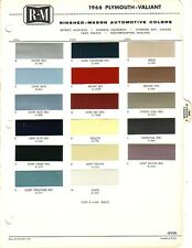 1966 PLYMOUTH VALIANT BARRACUDA FURY PAINT CHIPS (R-M)