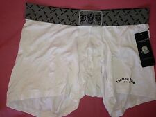 NWT LAGUNA BEACH JEAN CO. BLACK METAL WHITE BOXER BRIEF SIZE EXTRA LARGE NO FLY